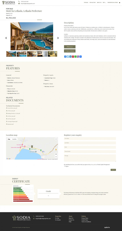 Sodia Properties real estate website property listing