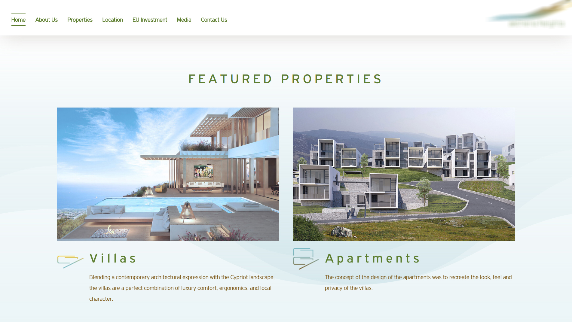Real Estate website for Aetheria