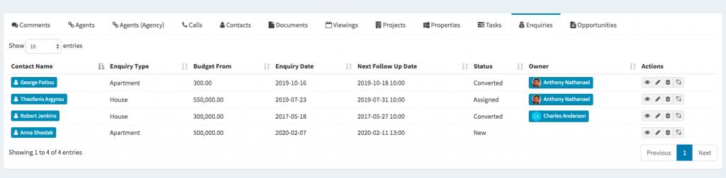 Qobrix CRM agent portal integration