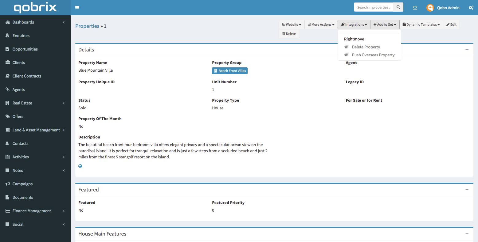 Qobrix Properties MLS integration tool