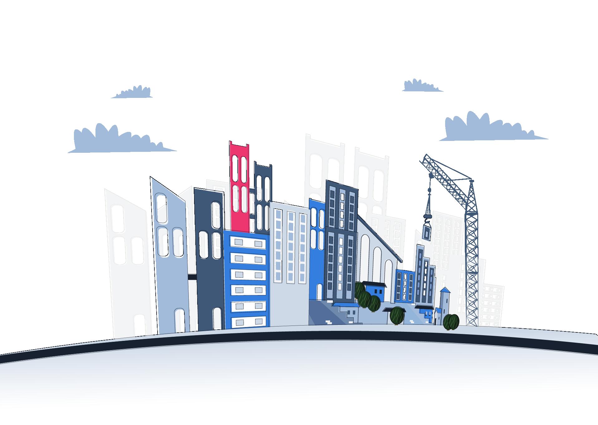 Qobrix Real Estate Software graphic representation