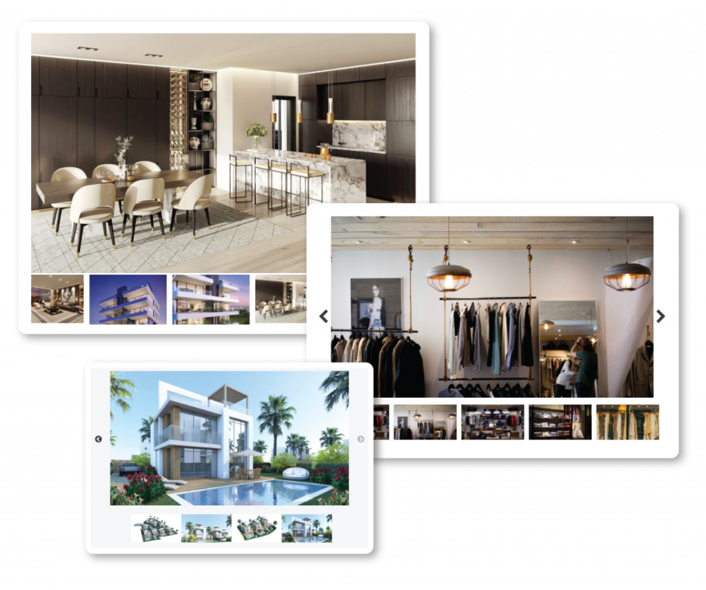 Showcase your property through an image gallery on your website