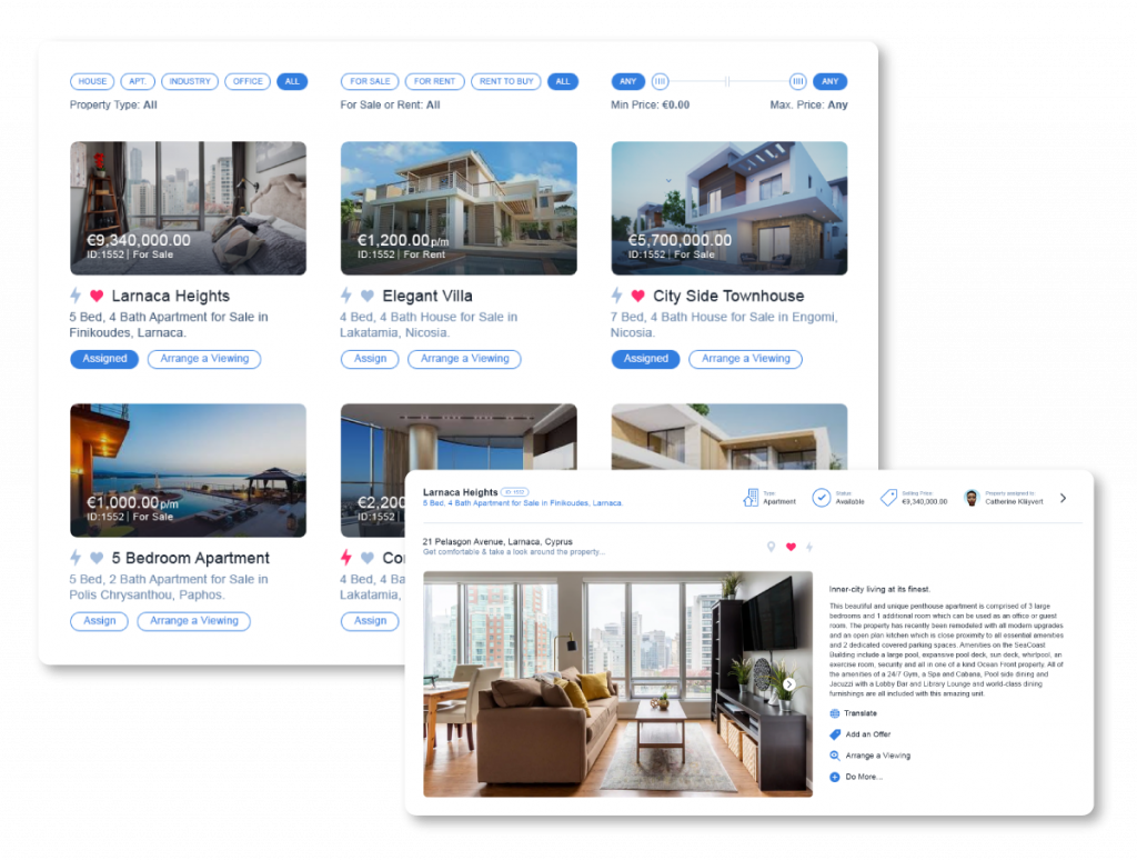 Adding real estate listings through Qobrix Real Estate Software
