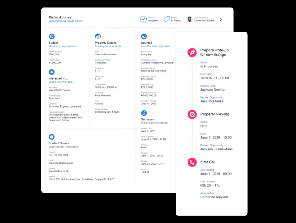 Adding activities through Qobrix Real Estate Platform