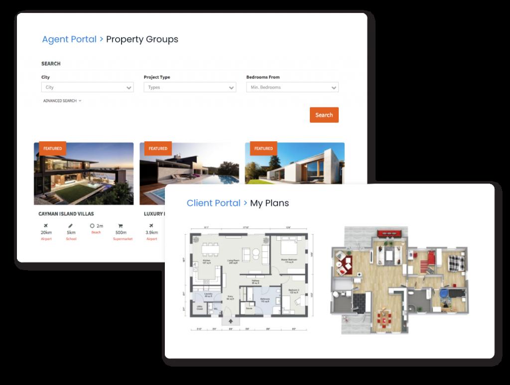 Qobrix provides friendly portals for Clients and Agents