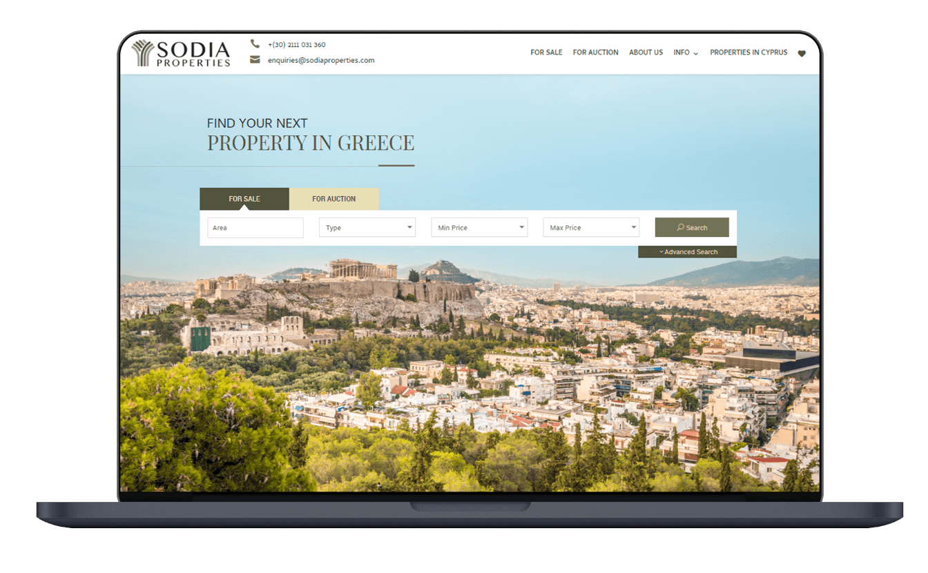 Sodia Properties Real Estate Website
