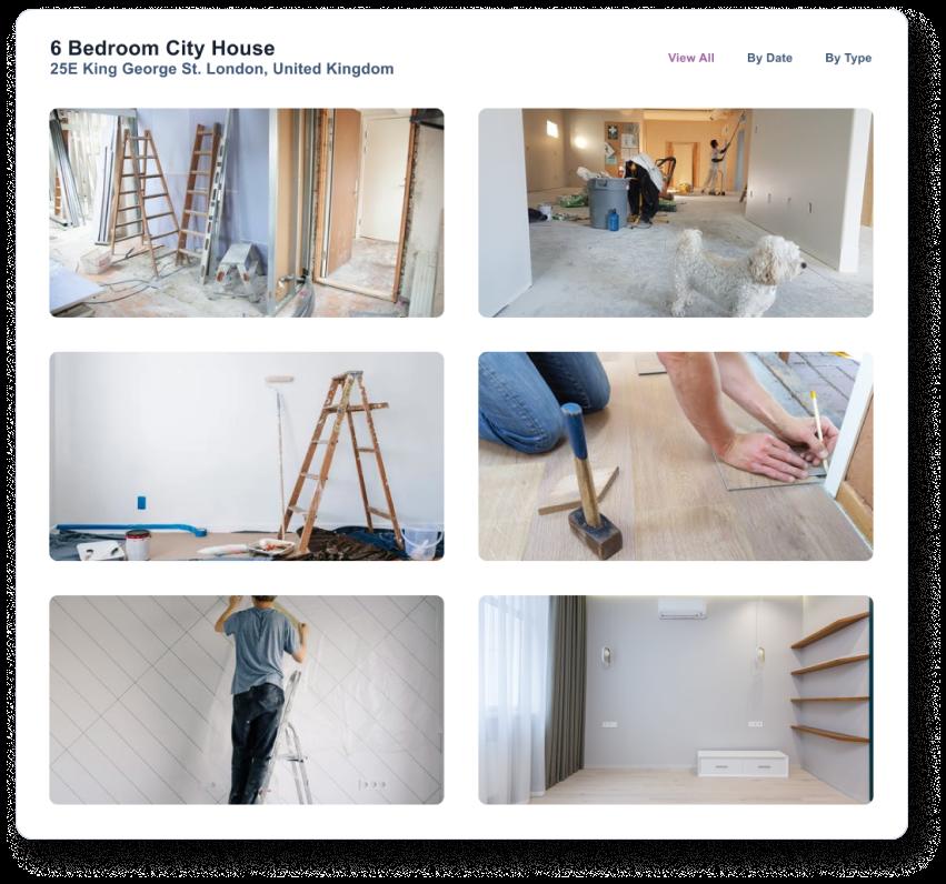 Monitor a property's progress through the Client Portal